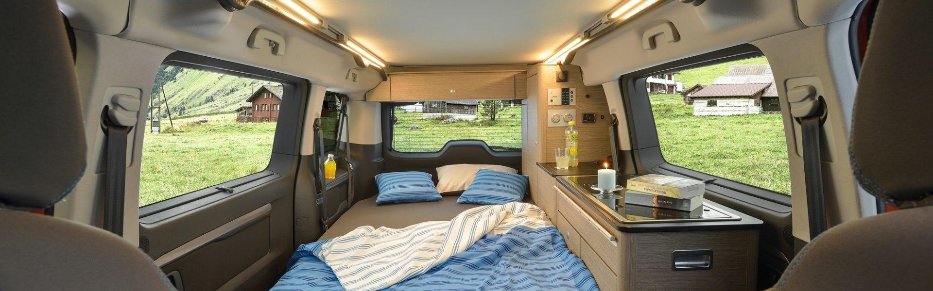 investir dans un van aménagé - le couchage